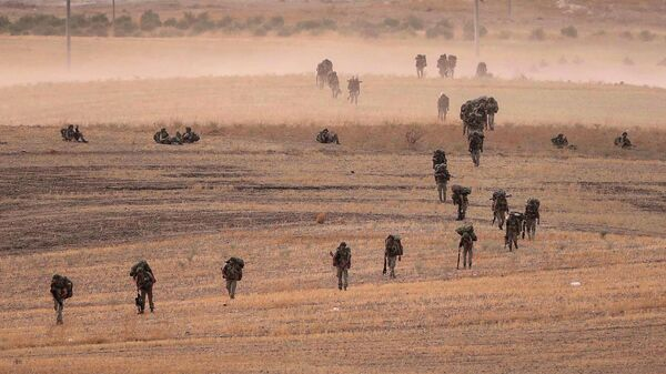 Турецкие военные в районе Манбиджа, Сирия