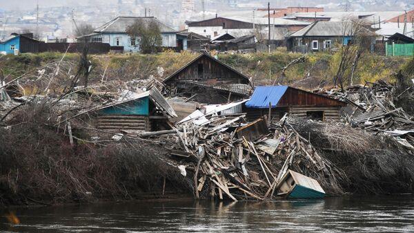 Ситуация в пострадавшем от наводнения Тулуне