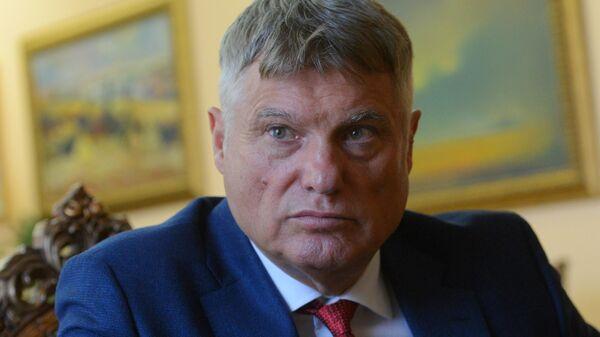 Посол Республики Сербия в Российской Федерации Мирослав Лазански во время интервью в Москве