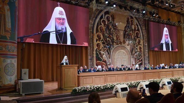 Патриарх Московский и всея Руси Кирилл на открытии XXIII Всемирного русского народного собора