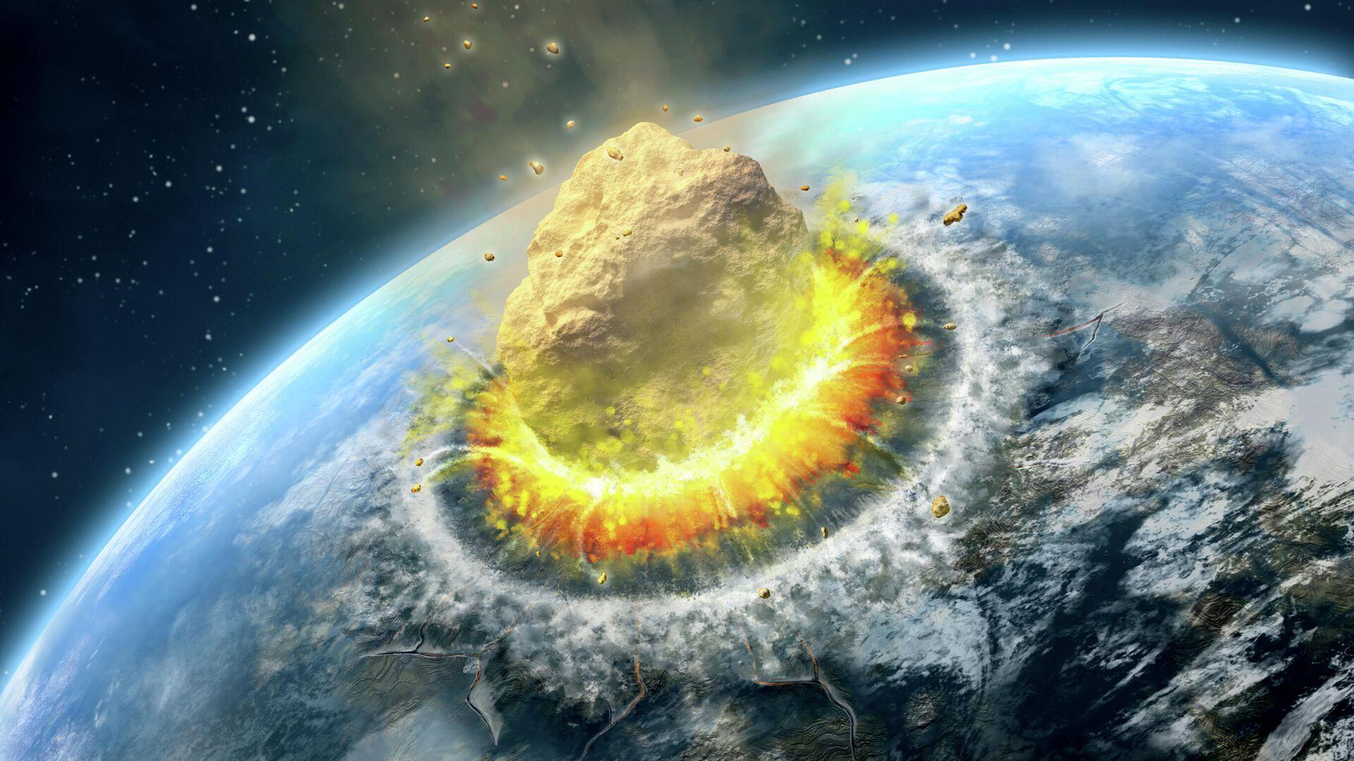 Столкновение астероида с Землей - РИА Новости, 1920, 19.10.2020
