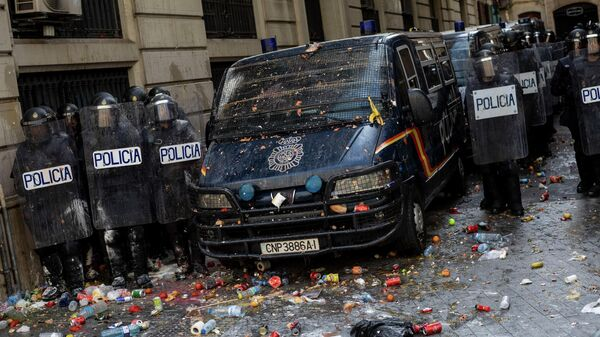 Полиция на акции протеста в Барселоне