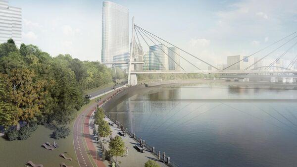 Проект пешеходного моста между Дорогомиловом и Шелепихинской набережной в Москве