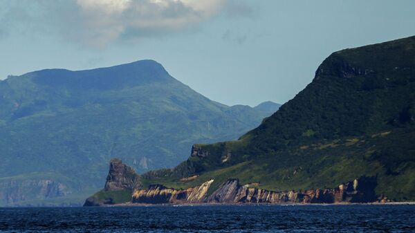 Мыс Шауэтена и гора Ирина острова Уруп
