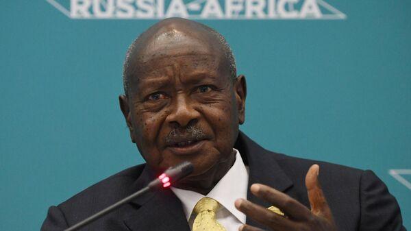 Президент Уганды Йовери Мусевени на форуме Россия - Африка в Сочи. 23 октября 2019