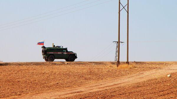 Российская военная полиция в сирийском городе Кобани