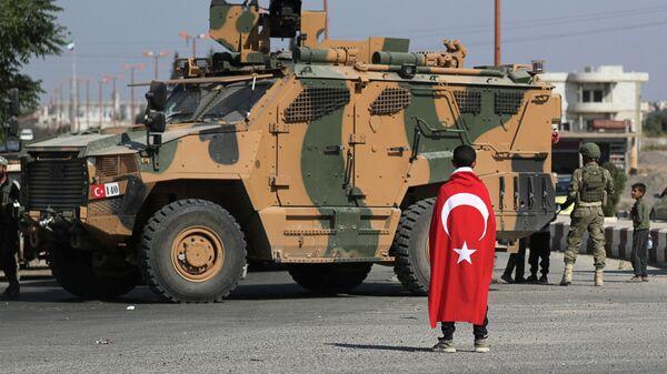Турецкие военные в Тель-Абъяде, Сирия