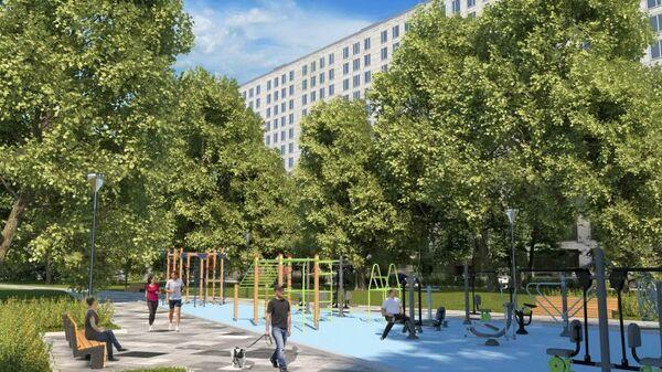 Проект планировки квартала в Обручевском районе Москвы