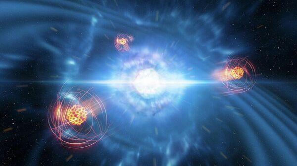 Образование стронция при слиянии нейтронных звезд