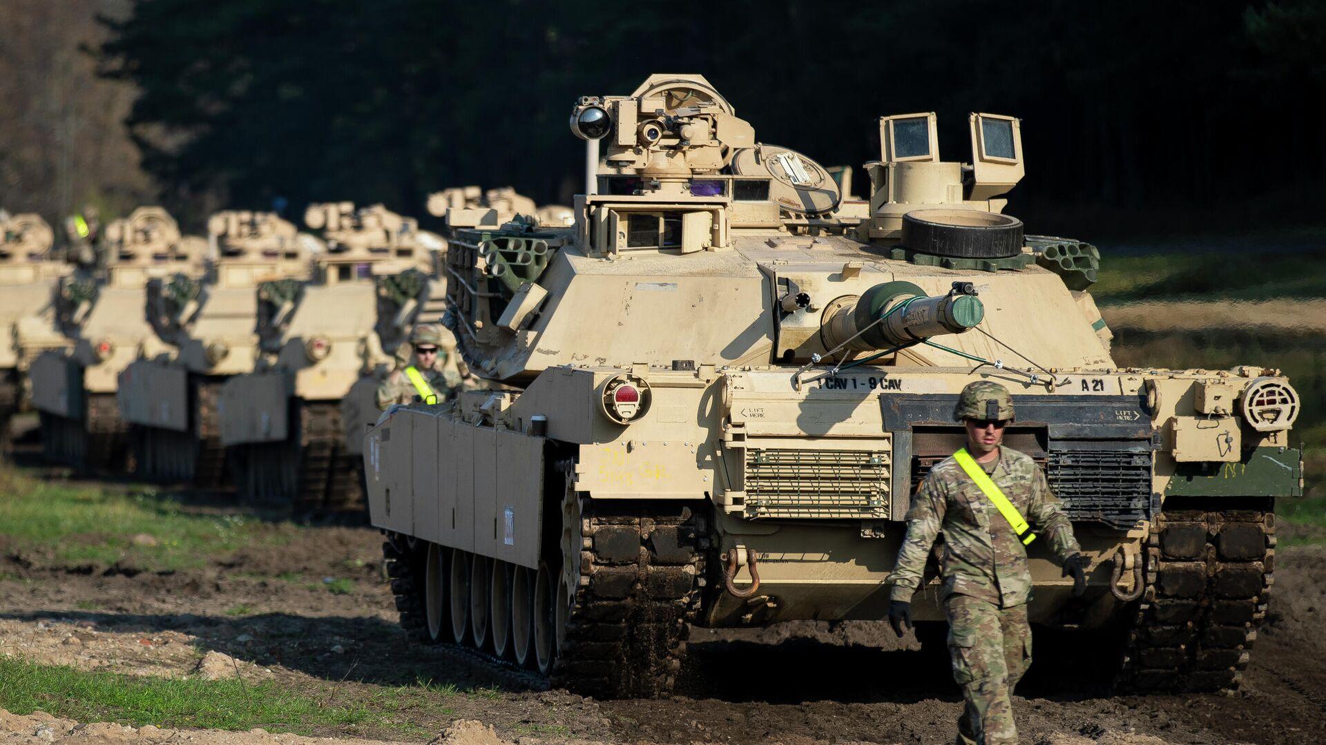 Американские танки Абрамс в городе Пабраде, Литва. 21 октября 2019 - РИА Новости, 1920, 26.05.2020