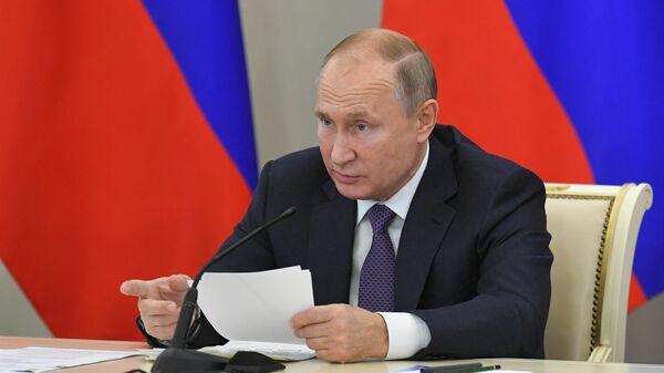 Президент РФ Владимир Путин проводит расширенное заседание президиума Государственного совета РФ по теме О задачах субъектов РФ в сфере здравоохранения