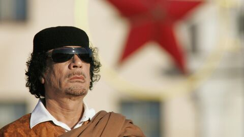 Ливийский лидер Муаммар Каддафи в Минске,  3 ноября 2008