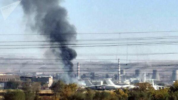 Пожар на ереванском аэродроме Эребуни