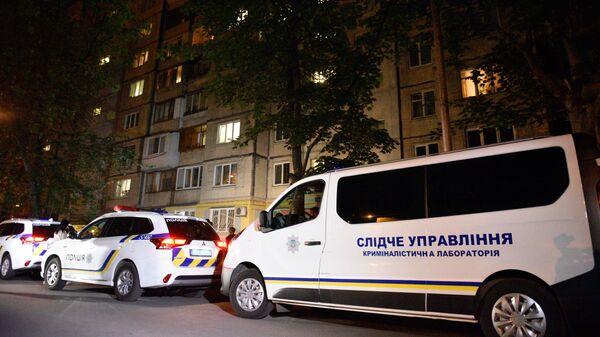 Видео момента взрыва Mercedes в Киеве