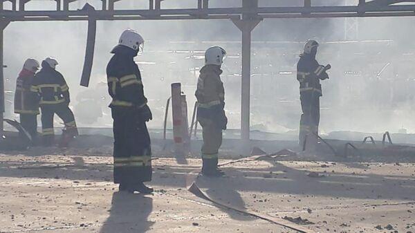 Пожар на нефтебазе Грушовая в Новороссийске