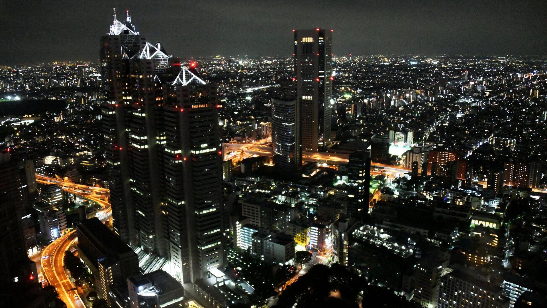 Вид на ночной Токио со смотровой площадки Токийского муниципалитета - РИА Новости, 1920, 28.07.2021