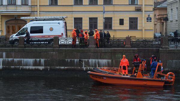 Следственные действия на реке Мойке в Санкт-Петербурге. 10 ноября 2019