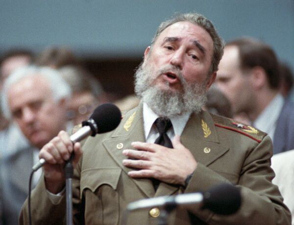 Выступление Фиделя Кастро