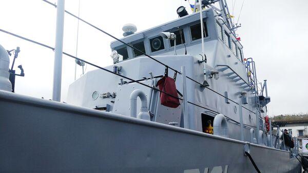 Патрульный катер типа Island Славянск, переданный США Военно-морским силам Украины, в порту Одессы
