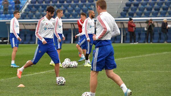 Футбол. Тренировка сборной России