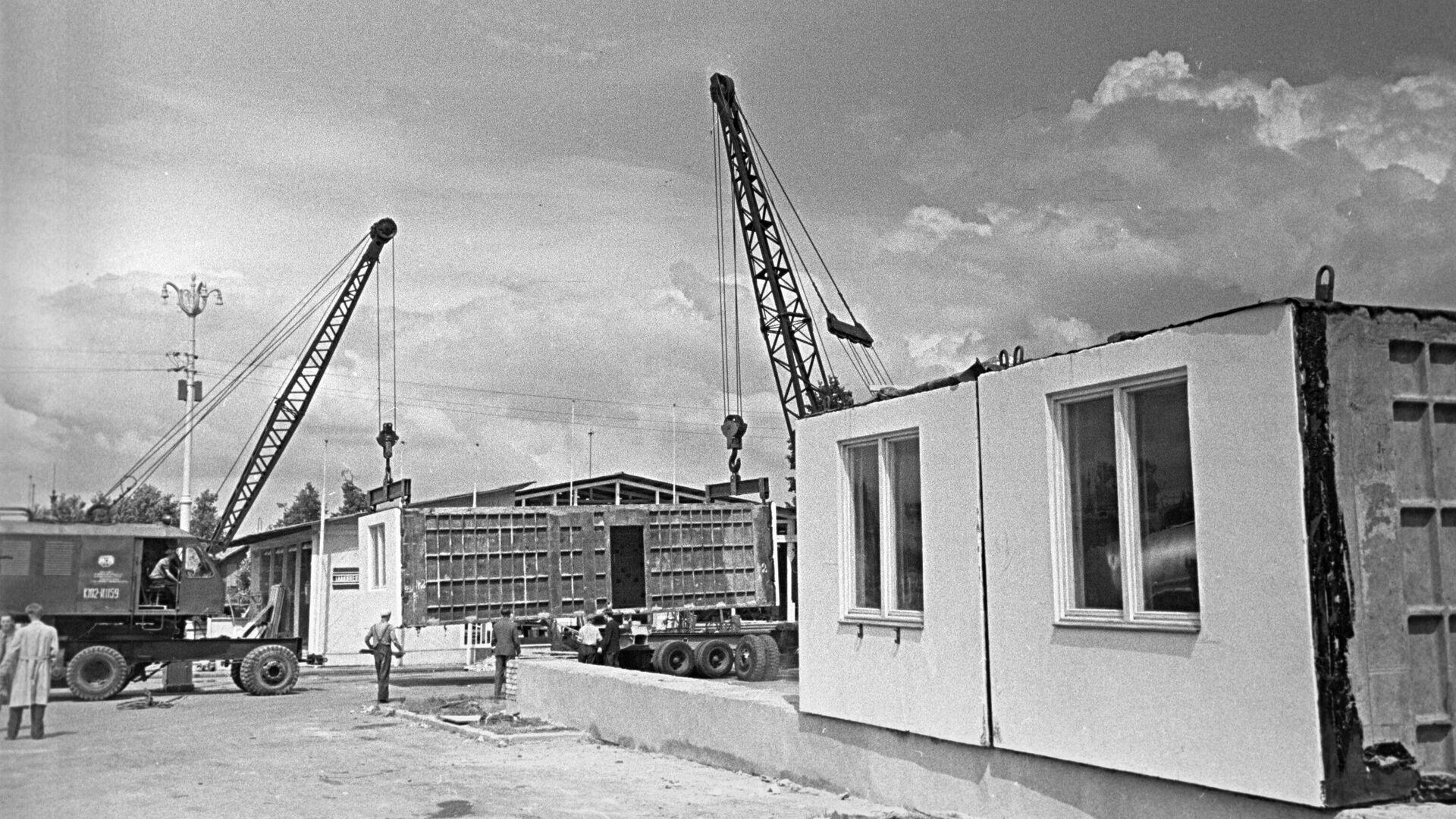 Строительство домов из блоков - РИА Новости, 1920, 18.11.2019