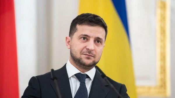 Президент Украины Владимир Зеленский во время встречи с Премьер-министром Чешской Республики Андреем Бабишем