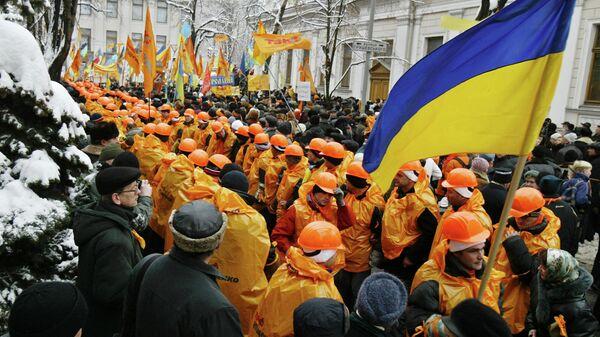 Сторонники кандидата в президенты Украины Виктора Ющенко в Киеве, 2004 год