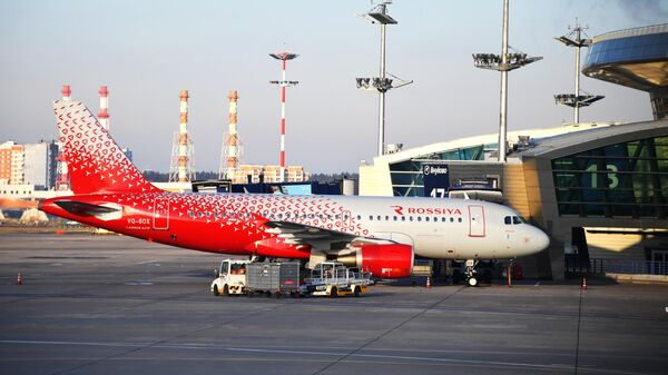 Самолет Airbus А319 авиакомпании Россия