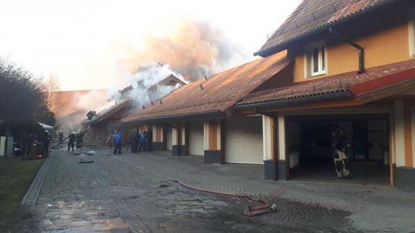 Пожар в поселении Мосрентген на 44 километре МКАД. 21 ноября 2019