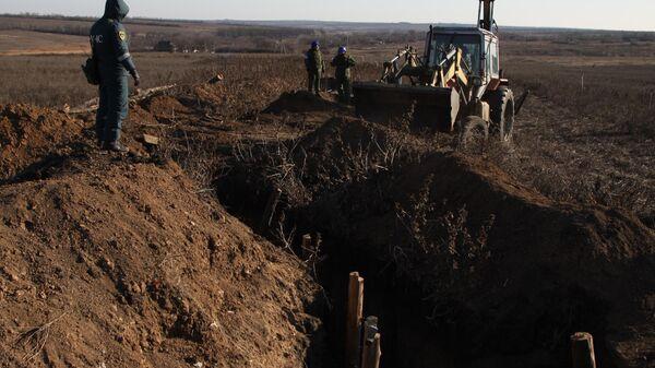 Демонтаж фортификационных сооружений в ДНР