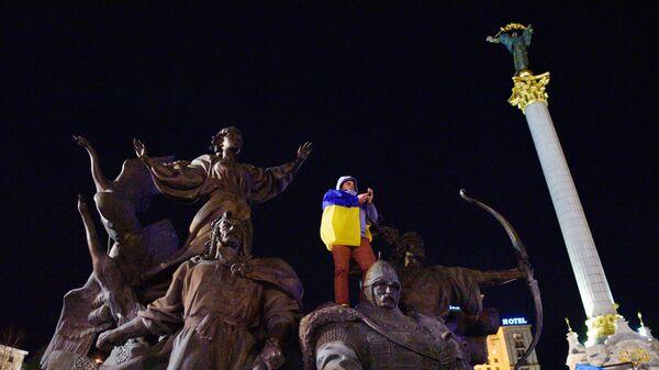 Митинг в Киеве в честь годовщины событий на Майдане