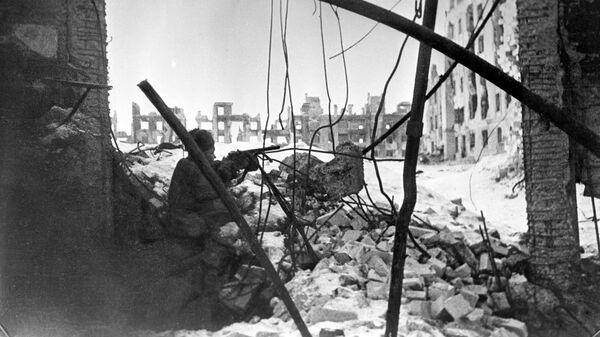 Бои за дом Павлова (дом в течении 58 дней обороняли солдаты под командованием старшего сержанта Я.Ф.Павлова) в Сталинграде