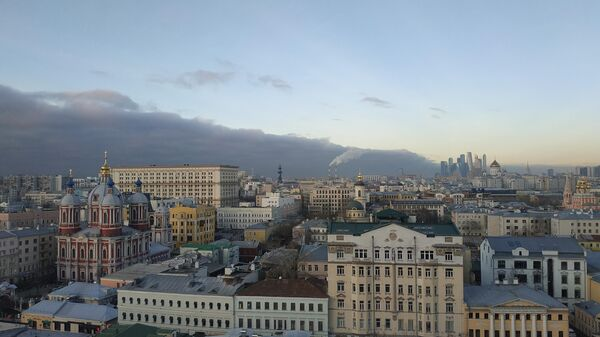 Вид на центральную часть Москвы из Замоскворечья
