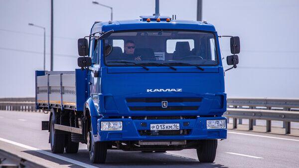 Тестовые испытания беспилотного грузового автомобиля КамАЗ