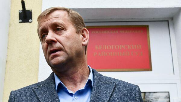Владелец парка Тайган Олег Зубков после заседания возле Белогорского районного суда