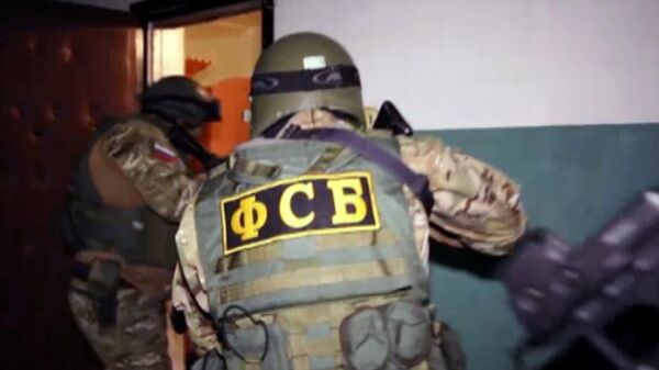 Сотрудники ФСБ РФ во время спецоперации