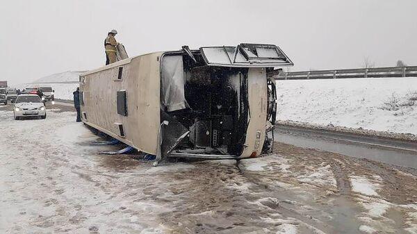 ДТП с участием автобуса в Воронежской области. 3 декабря 2019