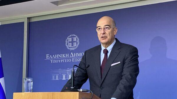 Министр иностранных дел Греции Никос Дендиас