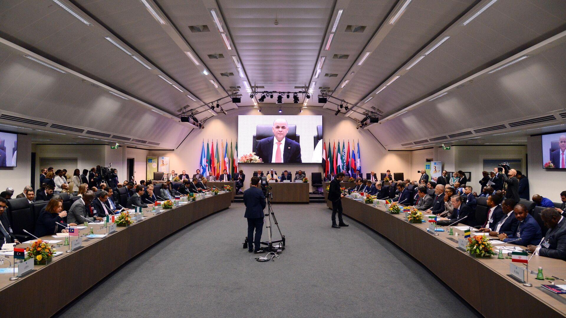 Заседание стран-участниц соглашения о сокращении добычи нефти ОПЕК+ - РИА Новости, 1920, 20.10.2020