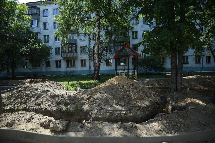 Работы по реконструкции Капотни