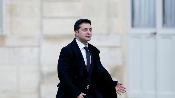 Президент Украины Владимир Зеленский прибывает в Елисейский дворец в Париже. 9 декабря 2019