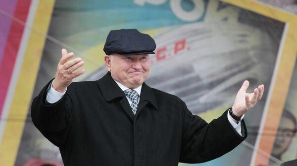 Мэр Москвы Юрий Лужков на открытии Музейно-выставочного комплекса Рабочий и колхозница в Москве