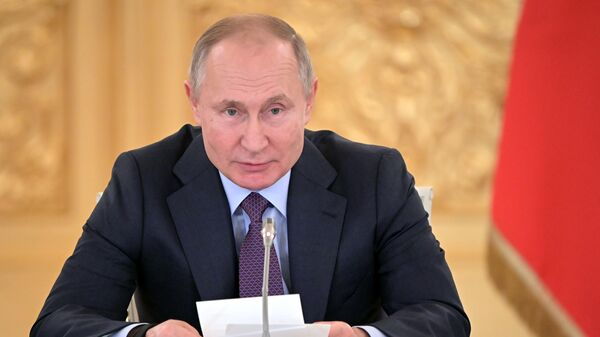 Президент РФ Владимир Путин на заседании Совета по развитию гражданского общества и правам человека