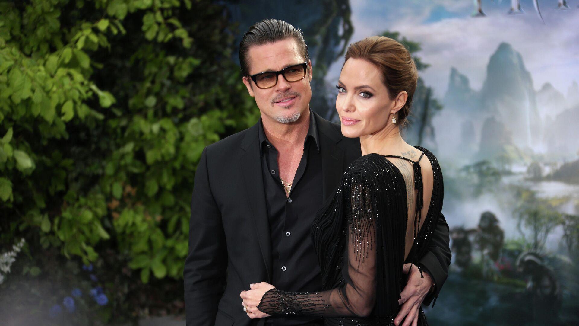 Брэд Питт и Анджелина Джоли в Лондоне - РИА Новости, 1920, 04.10.2020