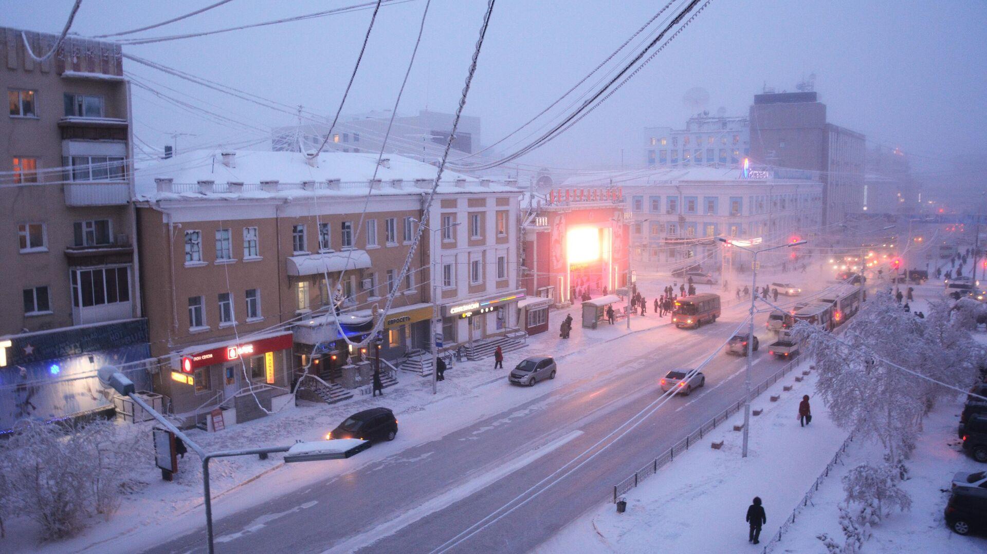 Проспект Ленина в городе Якутске - РИА Новости, 1920, 03.01.2021