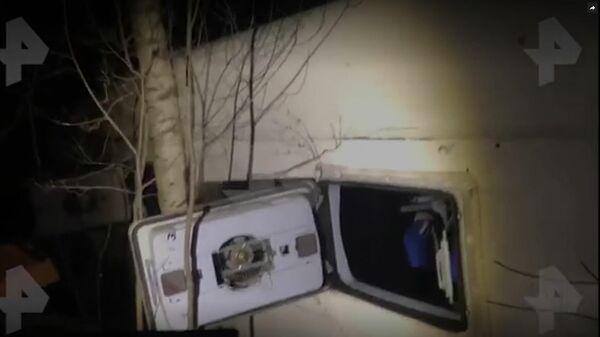 Опубликовано видео с места ДТП с автобус под Нижним Новгородом