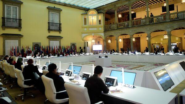 Встреча министров иностранных дел АСЕМ (форум Азия - Европа, объединяющий страны Восточной Азии и Европы) в Мадриде. 16 декабря 2019