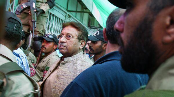 Бывший президент Пакистана Первез Мушарраф в суде в Исламабаде
