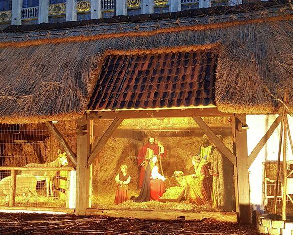 Рождественский вертеп в Брюсселе.