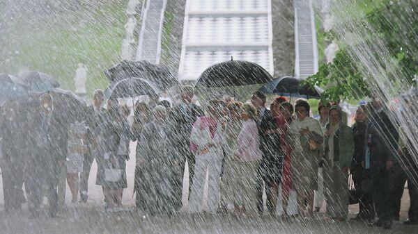 Дождь в Петергофе